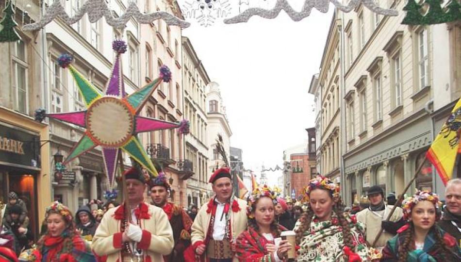 Carol singers in Kraków on the Epiphany