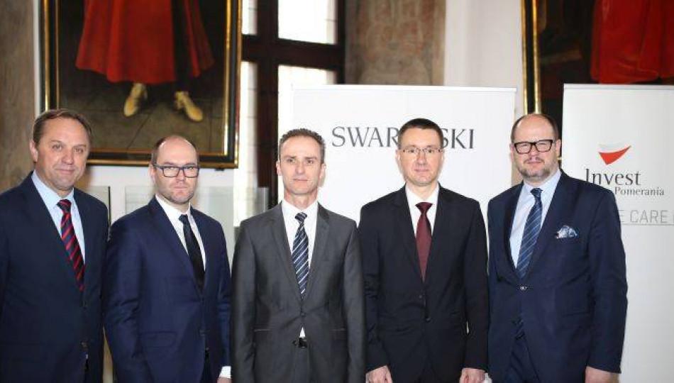 Swarovski and Pomerania representatives at investment inauguration, 2 February 2017